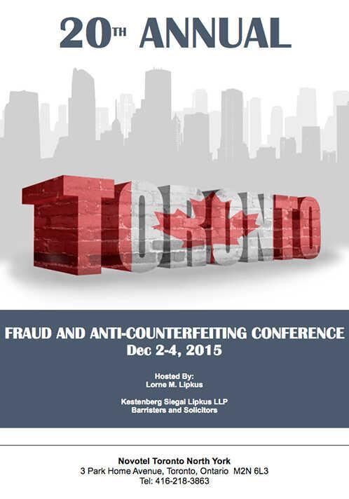 """Intervento del prof. Stefano Masini """"20° Annual Fraud & Anti-counterfeiting Conference"""""""