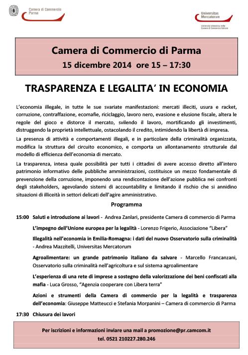 Trasparenza e legalità in Economia