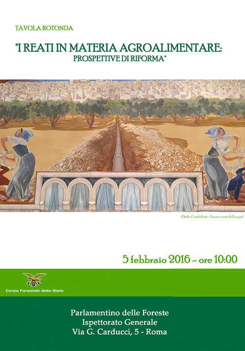 """Tavola Rotonda """" I reati in materia agroalimentare: prospettive di riforma"""""""