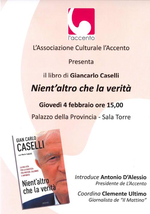 """Caselli presentazione del libro """"Nient'altro che la verità"""""""