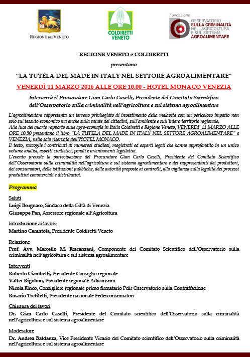 La tutela del made in Italy nel settore agroalimentare