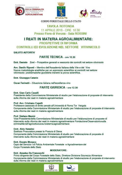 I REATI IN MATERIA AGROALIMENTARE: PROSPETTIVE DI RIFORMA CONTROLLI ED EVOLUZIONE NEL SETTORE VITIVINICOLO