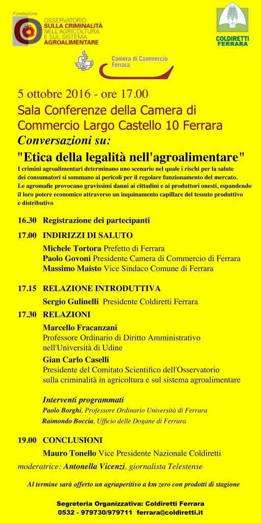 """Conversazioni su """"Etica della legalità nell'agroalimentare"""""""