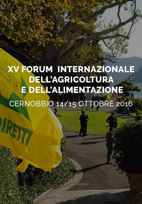XV forum internazionale dell'agricoltura e dell'alimentazione