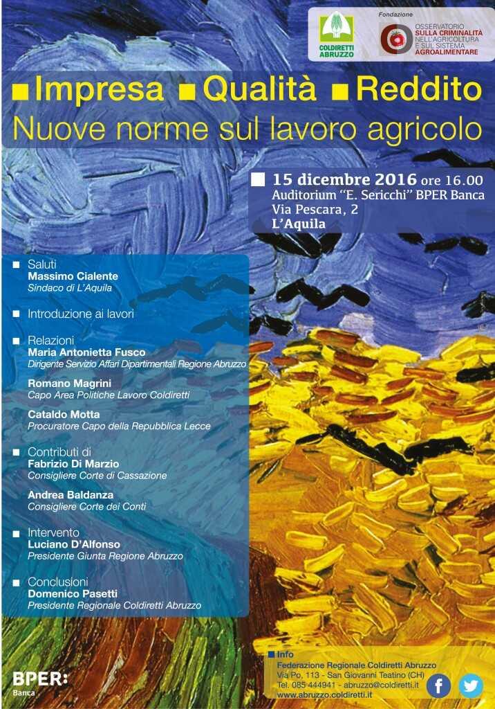 Nuove norme sul lavoro agricolo