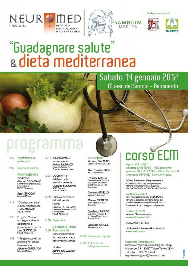 """Guadagnare salute"" e dieta mediterranea"