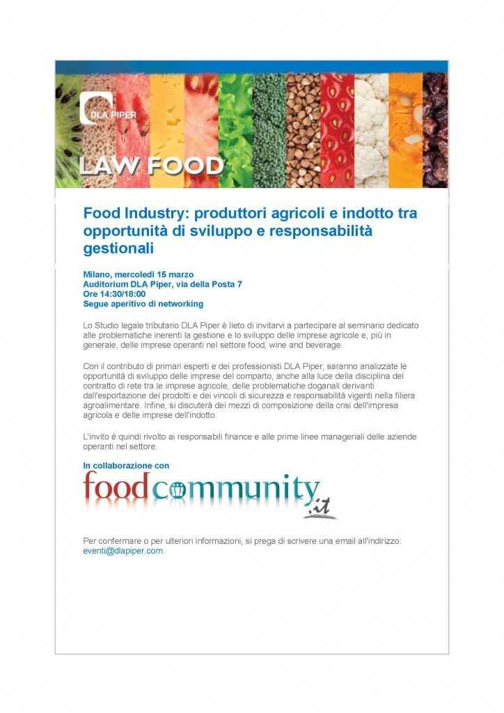 Food Industry: produttori agricoli e indotto tra opportunità di sviluppo e responsabilità gestionali