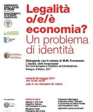 Legalità o/e/è economia? Un problema di identità