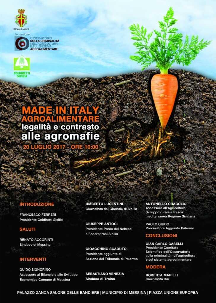 Made in Italy Agroalimentare – Legalità e contrasto alle Agromafie
