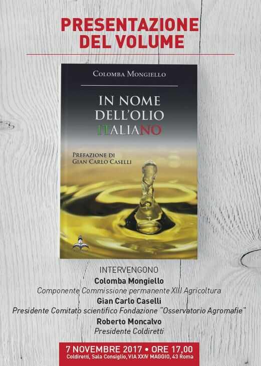 """Presentazione del volume """"In nome dell'olio italiano"""""""