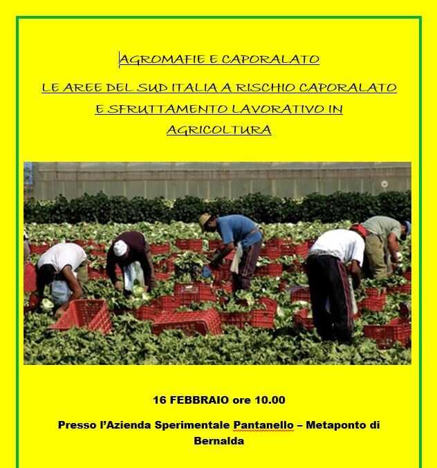 Agromafie e caporalato Le aree del Sud Italia a rischio caporalato e sfruttamento lavorativo in agricoltura