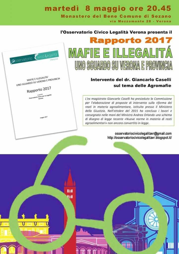 Rapporto 2017. Mafie e illegalità. Uno sguardo su Verona e Provincia