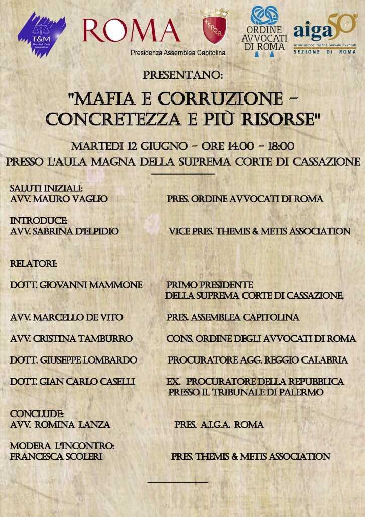 Mafia e corruzione – Concretezza e più risorse