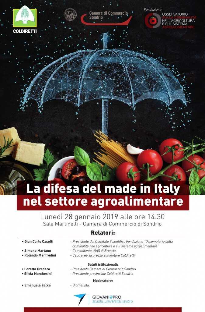 La difesa del Made in Italy nel settore agroalimentare