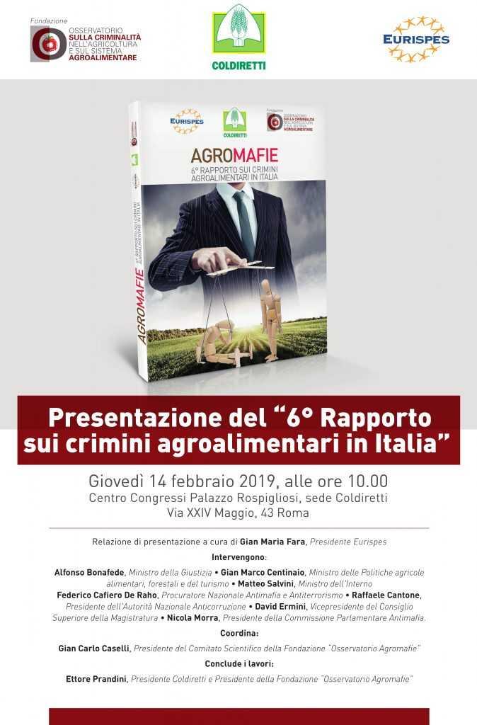 Presentazione del 6° Rapporto sui crimini agroalimentari in Italia