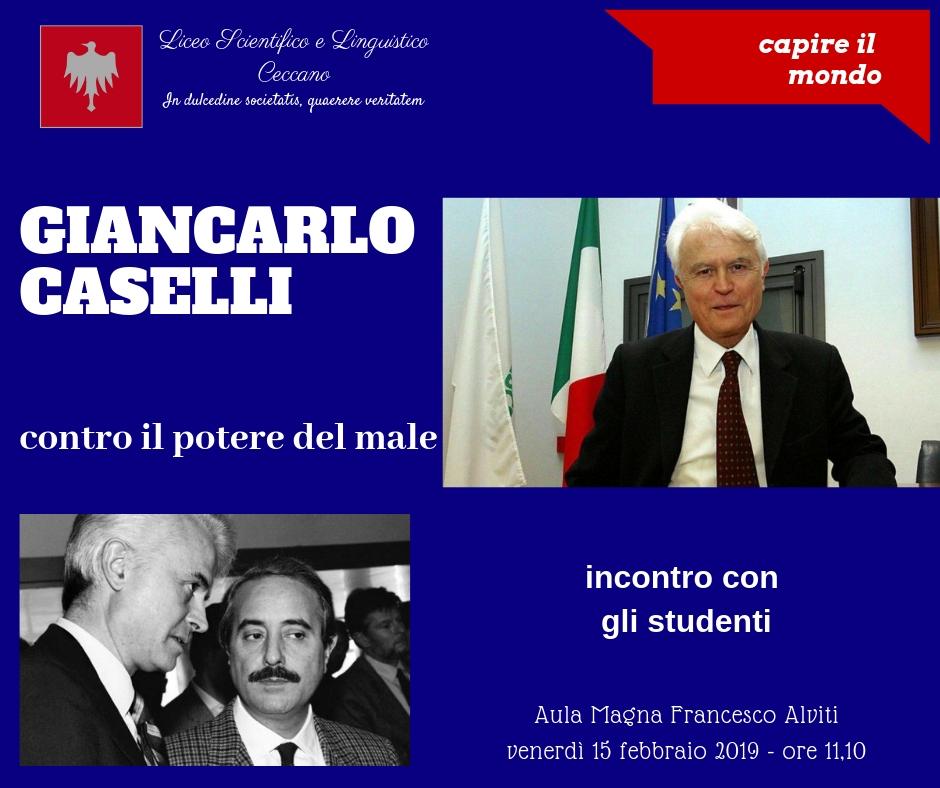 Contro il potere del male – Gian Carlo Caselli incontra la scuola