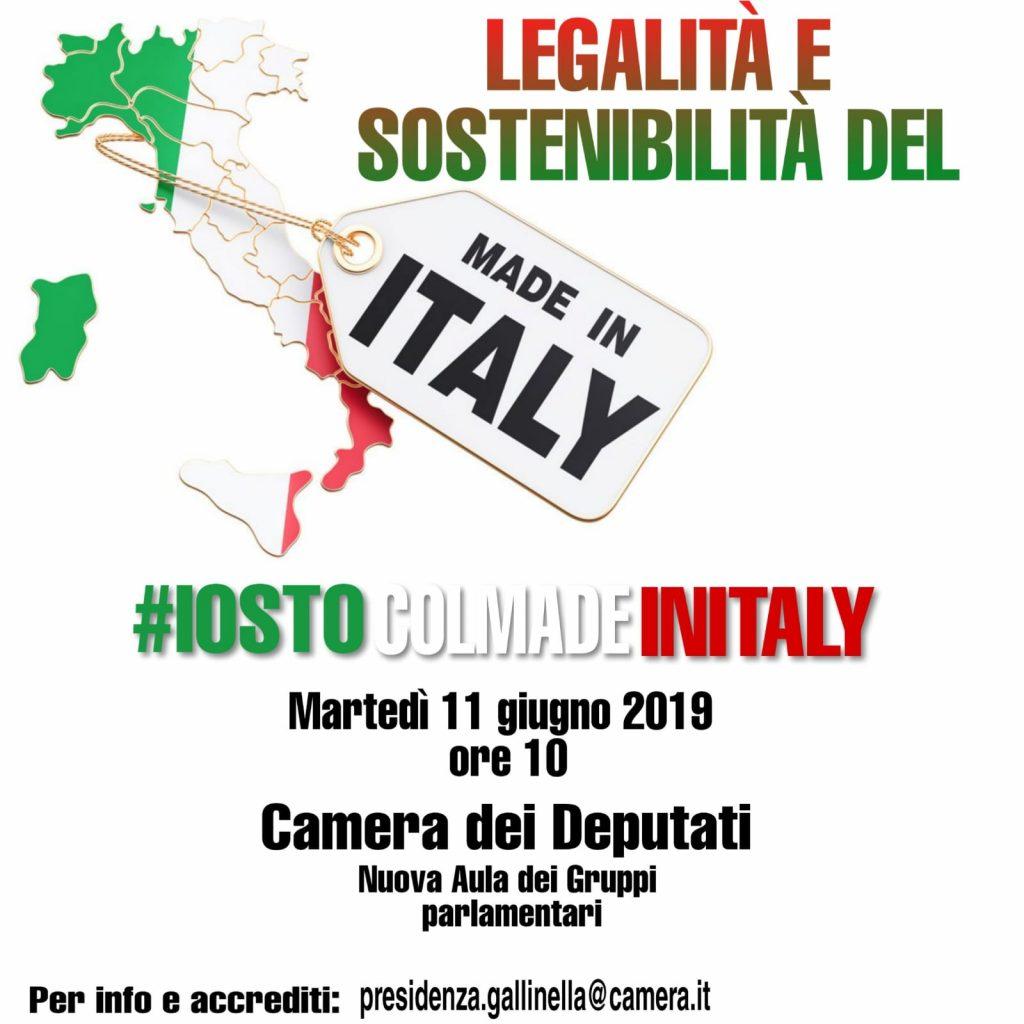 LEGALITÀ E SOSTENIBILITÀ DEL MADE IN ITALY #IOSTOCOLMADEINITALY