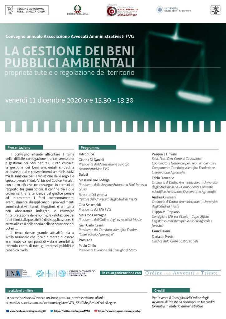 La gestione dei beni pubblici ambientali. Proprietà tutele e regolazione del territorio